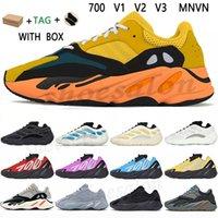 KANYE 700 V1 V2 V3 MNVN Wave Shoes Chaussures West Enflamme Amber Cream Sun Runner Mens Sneakers Azael Alvah Azareth Utility Black Solid Solid Grey Phosphor Sports en plein air