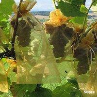 أكياس التخزين 50 قطع حديقة المعاوضة الخضروات العنب الفاكهة حماية حقيبة زراعية الآفات مكافحة الطيور شبكة العنب أداة