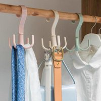 Hangers & Racks 3Pcs 360 Degrees Rotate Four Hooks Dry Wet Dual Use Towel Hanger Home Clothes Shoes Sundries Multi-Functional Organize