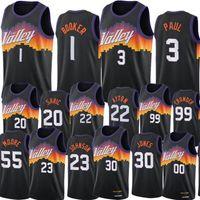 Suns Men Chris Paul Devin Booker Fallball Jerseys Deandre Ayton Top 2021 Swingman City Jersey Black Uniform Grasder Sardic الجسور جالين سميث جونسون كارتر ارتداء