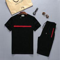 Designer da uomo Designer Dress Dress 20SS in cotone manica corta manica corta set collo rotondo allentato Trend Due pezzi