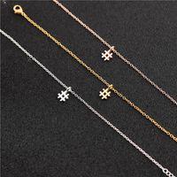 Кулон Ожерелья 1 Хэштег Письмо Начальный знак Цепочка Ожерелье Модный Алфавит Символ # Для Женщин Ladie Lucky Подарочные Украшения
