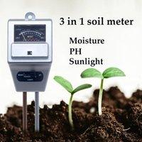 Meters 3 In 1 Soil Moisture PH Meter Sunlight Tester Indoor Outdoor Plants Flowers Acidity Luminosity Humidity Measuring Instrument