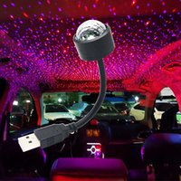 USB Lamps LED Night Light Atmosphere Party DJ Disco Music Lamp Vehicle Voice Control Atmospheres Bulb Car Lights Truck Decoration Bulbs Colorful Laser