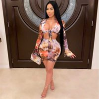 Fashion One Solid Color Femme Robe Hollow Womens Robes Sexy Bandage Bandage Bullcon Soirée Plac Club Femme Taille Courte Mini #KC