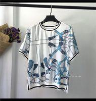 Women's T-Shirt UW0728 Fashion Women Tops & Tees 2021 Runway Luxury European Design Party Style T-Shirts Clothing