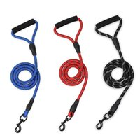 Pet Traction Rope Dog Weaving Round Short Sling Wear-Resistant Bite Climbing Rough Training Leash Chain Collars & Leashes