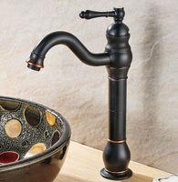 Bathroom Sink Faucets Black Oil Rubbed Bronze Single Lever Handle Vessel Basin Faucet Mixer Taps Anf300