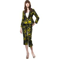 Women's Suits & Blazers Fashion African Print Women Pant Africa Festive Ladies Jackets Party Customized Clothing