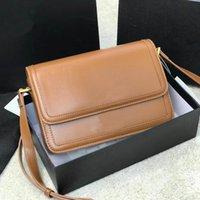 Wholesale Diseñador Bolsos Bolsos de hombro Mujeres Crossbody Bag Top Cowhide Material Material de Copos Oro Accesorios de hardware de cobre Lujo Retro Tofu Forma Bolso