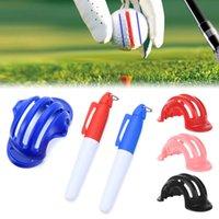 1 세트 골프 공 트리플 트랙 3 라인 마커 크롬 스텐실 + 2pcs 마커 펜 골프 퍼팅 포지셔닝 에이즈 야외 골프 스포츠 도구
