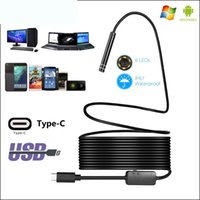 1M USB-C / Typ-C-Endoskop-wasserdichte IP67-Snake-Tube-Inspektionskamera mit LED-Adapter