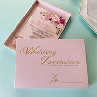 100pcs Clear Acrylic Invitations Cards 8 Colors Wedding Invites Card With Boxes For Engagement Birthday Anniversary, Customized Greeting