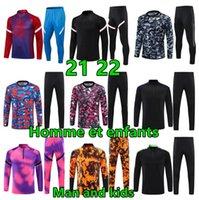 Melhor 2021 22 Homens e Crianças Jogging Futebol Treinamento Tracksuit Kits Boys Mens Jaqueta Sobrevetimento Pé Futebol Chandal Futbol Chándal Sportswear