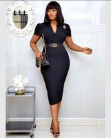 Women Pink Dresses Bodycon Pencil Elegant Office Lady Classy Dress Slim Vestido Large Size Modest Female BC298 Casual