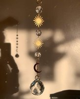 Starlings Handmade Dreamer Moon Sun Catcher Crystal Beads Bo...