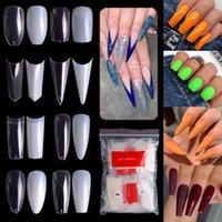 False Nails 500pcs Kit Nail Art Tip French Long For Salon Manicure Fake Acrylic Accessories Half Full Finger Toe Tips