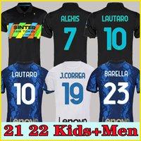 بين الفانيلة Vidal Barella ميلان Lautaro Eriksen Alexis 21 22 كرة القدم قميص كرة القدم 2021 2022 زي الرجال الاطفال كيت