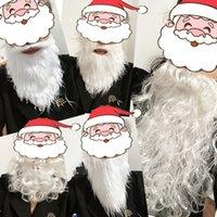 Decorazioni natalizie Baffi Babbo Natale Babbo Bads False Beard Funny Beard Beard Xmas Cosplay Halloween Baffi ZC415
