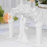 Greeting Cards 10pcs 3D Up Wedding Invitation Cut With Envelope For