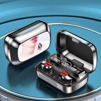 TWS Wireless Earphones Bluetooth 5.1 Headphones HD Call HIFI Sound Bass Auto Matching Mini Earbuds With Charging Cable Box