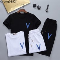 Hommes Designer Tracksuits Fashion Imprimé T-shirts Pantalons 2PCS Vêtements Ensembles de vêtements Adolescent Sports Costumes M-XXXL