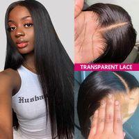 Ishow 28 32 34 38 40inch Long Transparent Lace Front Wigs Human Hair Wigs 13x4 13x6 5x5 4x4 13x1 Yaki Straight Kinky Curly Water Loose Deep Body Wave Headband Wig Bangs