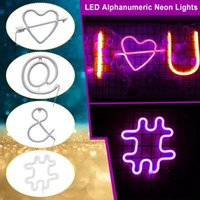 Novelty Items Led Neon Night Light Sign Wall Art Lamp Xmas Birthday Gift Wedding Party Hanging Home Decor #T2G