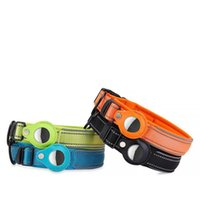 Cat Collars & Leads Pet Nylon Protective Case GPS Finder Dog Collar Loop For Apple Airtags Locator Tracker Anti-lost Device
