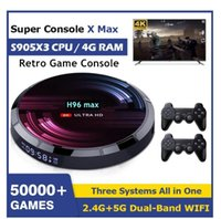 Portable Game Players Super H96 Max Retro Video Console With Wifi 4K HD Player For PS1 PSP N64 DC 50000+ Games S905X3 Android 9.0 TV Box