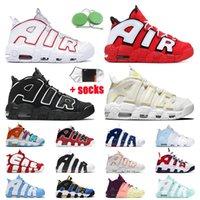 Nike Air More Uptempo Scottie Pippen Moda Scarpe da basket Donna Uomo Nero Bianco Varsity Red Hoop Pack Sneakers Bulls Light Citron Psychic Blue Scarpe da ginnastica sportive