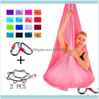 Sports & Outdoors Fitness Supplies Full Set Flying-Aerial Yoga Hammock Fabric Swing Latest Multifunction Anti-Gravity Belts For Training Spo