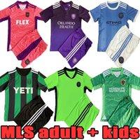 Adulto Kids Kit 2021 2022 MLS Inter Futebol Jersey Set 21 22 Los Angeles Atlanta Miami Galaxy Orlando Austin Classic Sports Home Away Goleiro Camisa de Futebol