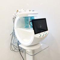 Yeni 7 in 1 HydfaFacial Dermabrazyon Makinesi Su Oksijen Jet Peel Hydra Cilt Scrubber Yüz Güzellik Derin Temizlik RF Yüz Liftcold Çekiç Sihirli Ayna Cilt Analiz Cihazı