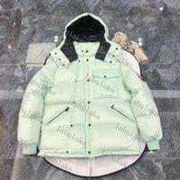 Branded Men Down Jacket Letter Designer maschile inverno caldo doppio cerniera Outwear Fashion Gentlemen Stand Collar Cover