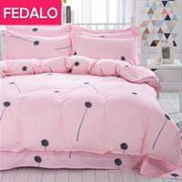 Bedding Sets Four-piece Ins Net Red Skin-friendly Quilt Cover Sheet Student Supplies Dormitory 1.2m Three-piece Set