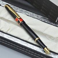 Высокое качество Picasso черный металлический роликовый шар для ручки финансов офис канцтовары классические письма шариковые ручки для бизнес подарок