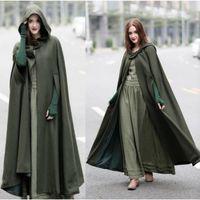 Women's Wool & Blends Fall Clothes For Women Cape Coat Loose Hooded Fashion Super Long Woolen Winter