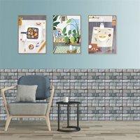 30 * 30 cm 3D Tapete DIY Ziegelstein Self Klebstoff Wasserdichte Wandpapier Küche Badezimmer Wohnzimmer Fliesenaufkleber Renovierung 633 s2