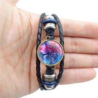 Bracelets de charme arbre de vie verre cabochon bracelet multicouche enveloppement bracelet manche poignet bijoux femmes bracelets charme q4bv hxnn