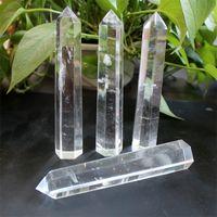 Arti naturali e artigianato cristallo Grande chiaro quarzo torre del quarzo obelisco bacchetta di guarigione 2087 V2