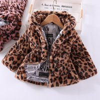 Jackets Winter Girls Coat Thick Padded Jacket Leopard Print Long-sleeved Cotton Children's Baby Girl Clothes Zipper