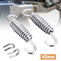 40mm Stainless Steel Motorcycle Exhaust System Muffler Springs Hook Motobike Exhausts Pipe Hooks Moto Repair Parts Universal