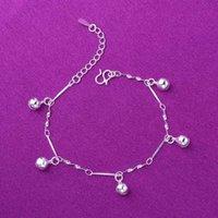 Bajo precio barato tobillera de plata coreano moda cinco campana pulsera decoración del pie yiwu mercantilidad