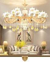 Modern LED K9 Crystal Chandelier Lights For Living Room Light Ceiling Fixture kirsite Indoor Pendant Lamp With Lampshade