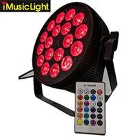 SlimPar LED WASH 18X18W RGBWA + UV 6IN1 IR Télécommande DMX512 LED par l'éclairage de la scène quadrinée