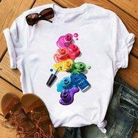 Frauen T-Shirt Frauen Vogue 3d Finger Nagelfarbe T-shirts Frauen Grafik Weibliche T-Shirt 90er Jahre Kawaii Damen T-Shirts Sommer