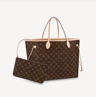 Frauen Handtasche Umhängetaschen Einkaufstasche Totes Klassische braune Geldbörse Datum Code Seriennummer Kontrolleure Tasche Gitter Blume 27