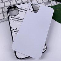 Em branco 2D Caso de Sublimação TPU + PC Transferência de calor Telefone Capa para iPhone 12 Mini 11 Pro Max 7 8 Plus X Xs XR