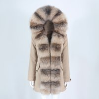 OFTBUY 2021 New Waterproof Parka Real Fur Coat Winter Jacket Women Natural Fox Fur Collar Hooded Thick Warm Detachable Outerwear
